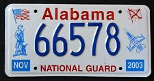 "ALABAMA "" NATIONAL GUARD SOLDIER FIGHTER JET AL Military Specialty License Plate"