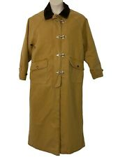 Woolrich Womens Size S Long Canvas Duster Coat Tan Wool Lining