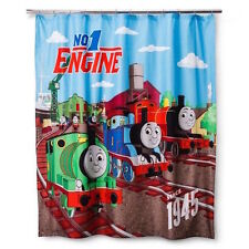 """THOMAS THE TANK AND FRIENDS - STANDARD 'FUN' SHOWER CURTAIN 70"""" X 72"""" **NEW**"""
