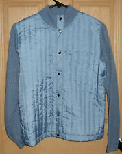 IActive Petite Womens PL Large Sweater Quilted Jacket Blue Long Sleeve Snap
