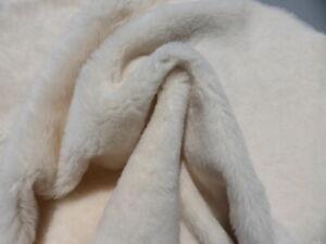 sheepskin shearling leather hide Off White silky w/Bone White smooth back