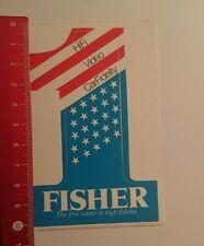 ADESIVI/Sticker: Fisher hi-fi the first name in alta fedeltà (18071629)