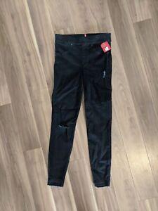 SPANX Womens Black Distressed Skinny Jeans Size Small $128 NWT