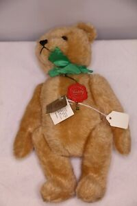 HERMAN Teddy Original Jointed 14 In Mohair Teddy Bear Original Tags Makes Noise
