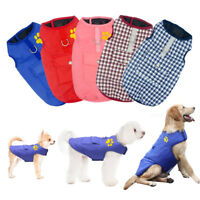 Dog Jacket Waterproof Warm Padded Winter Clothes Pet Vest Coat Small Large Dogs
