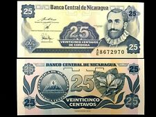 NICARAGUA 25 Centavos Year 1991 Banknote World Paper Money UNC