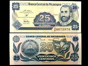 NICARAGUA 25 Centavos Year 1991 Banknote World Paper Money UNC