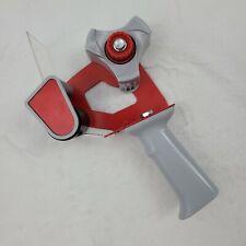 Packing Tape Dispenser Gun 2 Inch Heavy Duty Metal Plastic Red Handheld