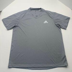 Adidas Shirt Adult Gray Extra Large Climalite Exercise Running Men U200