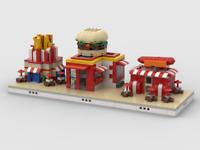MOC Instructions Fast Food Restaurants mini ZOO Building (3 MOCs)