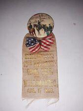 New listing Gar Reunion Badge, 18th Conn Vols, 1898