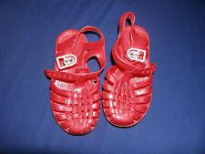 Scarpe sandaletti n. 26 in plastica di colore rosso