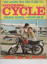 Modern Cycle Vol 4 No 1 Jan 1968 Jawa BSA Kawasaki Triumph Carlsbad National
