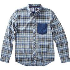 Analog Richmond Long Sleeve Shirt (M) Cadet Blue