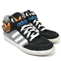 adidas Hard Court Hi Big Tref Logo Black Gray Shoes Sneakers Size 7