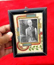 VINTAGE LITHOPRINT OF INDIA'S 1 PRIME MINISTER PT. JAWARHAR LAL NEHRU FRAMED PIC
