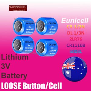 4x CR-1/3N CR 13 N 2L76 KL76 13N KL1/3 LOOSE Eunicell Lithium Battery