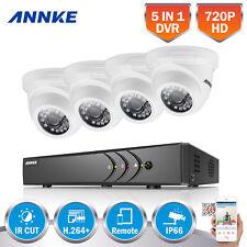 ANNKE 4CH 1080P Lite CCTV 5IN1 DVR 2000TVL White 720P TVI Security Camera System