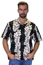 KY's Original Camisa Hawaiana Sello Amarillo Yellow Stamp Negro