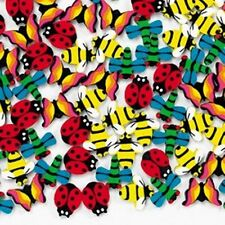 Mini Insect Bug shaped Erasers - 36 piece pack - Bee Ladybug Butterfly Dragonfly