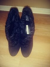 Oscar De La Renta Women Black Ankle Boots US 8
