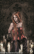 VICTORIA FRANCES RED BASQUE - 3D CULT FANTASY PICTURE 300mm x 400mm