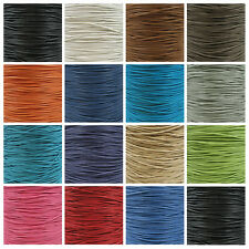 WAXED COTTON CORD 1mm, 1.5mm & 2mm *15 COLOURS* CRAFT JEWELLERY MAKING STRINGING