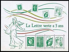 STAMP / TIMBRE FRANCE  BLOC FEUILLET NEUF N°  F4908 ** LA LETTRE VERTE A 3 ANS