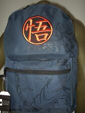 Blue Dragon Ball Z Kanji Kai Goku Japanese Anime Cartoon Backpack Book Bag DBZ