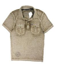 New Mens Buffalo David Bitton H. Tunnel Neekian Dyed Polo Shirt M