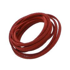 Ultra micro fibre Daim Plat Cordon 3x1.5mm Rouge 1 mètre (N81/6)