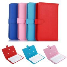 Portable Wireless Bluetooth Keyboard +Faux Leather Case Cover for Cell Phone