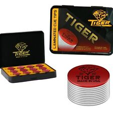 Tiger Laminated Pool Cue Tips SOFT  - Tiger QTY 1 - FREE SHIPPING 002003
