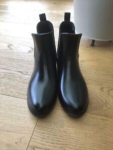 Riding Low Black Boots. Size 8. Worn A Few Times