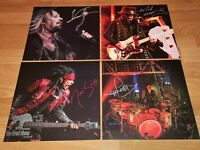 MOTLEY CRUE  4 Photo Lithograph SIGNED 28x28,of the Boxset *The End*-IRON MAIDEN