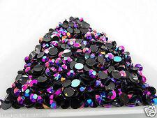 2000 un. Oscuro Púrpura AB 4mm ss16 Resina Strass Diamante Gemas de reverso plano C81