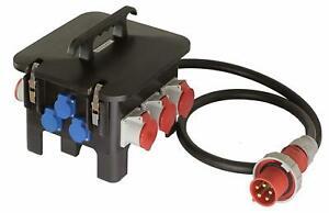 63A Stromverteiler Starkstrom Verteiler 63 A 400 V FI abgesichert as Schwabe