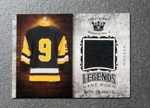 2021 Sportkings Volume 2 Legends Memorabilia #LSM26 Ron Francis Black