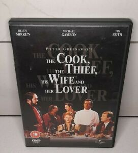THE COOK THE THIEF HIS WIFE AND HER LOVER DVD CULT DRAMA HELEN MIRREN GREENAWAY.