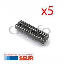 5X Zocalo 28 Pines DIP28 integrado pin Socket doble contacto Arduino prototipos
