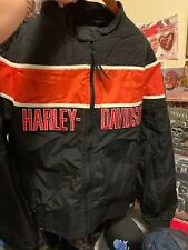 Vintage HARLEY DAVISON Motorcycle Racing Biker Zipper Up Jacket. Size XL