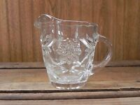 Vintage Anchor Hocking EAPC Creamer Star of David Pressed Glass Clear
