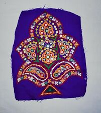 Indien Kutch Tribal Handmade Aiguille Brodé Arbre Patch Potence Designer Motif