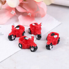 4Pcs Dollhouse Miniature Motorcycle Tricycle Ornament Model Doll House Decor_ws
