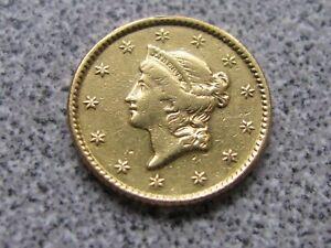1851  $1 Gold Liberty Head One Dollar Coin- Rare
