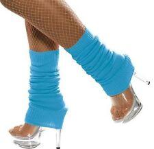 femmes années 80 année 1980 80 tricoté déguisement danse jambières Bleu NEUF Par