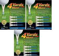 "4 Yards More Tees 3x Four Pack Blue 3.25"" 3 1/4"" (12) Golf Channel Driver Tee"