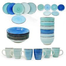 Kombiservice Geschirrset Tafelservice Kaffeeservice Porzellan Geschirr Blautöne