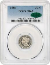 1888 3cN PCGS/CAC PR 65 - 3-Cent Nickel