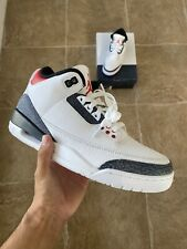 Nike Air Jordan 3 Retro SE Denim Fire Red - Mens Size 8 CZ6431-100